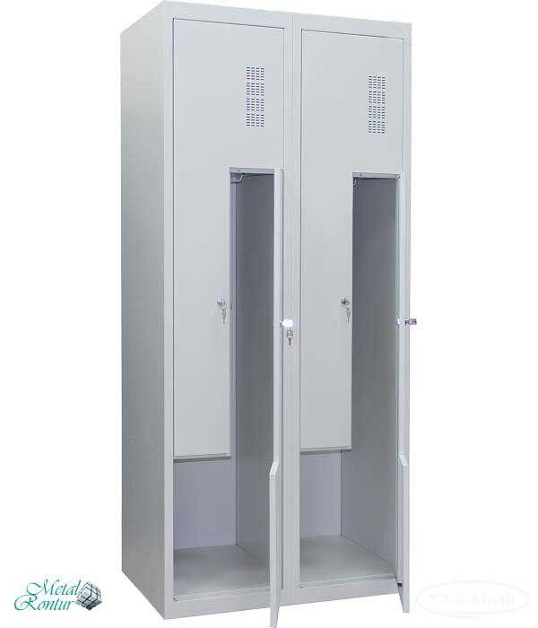 Шкаф для одежды металлический ШОМ-Г-400/2-4