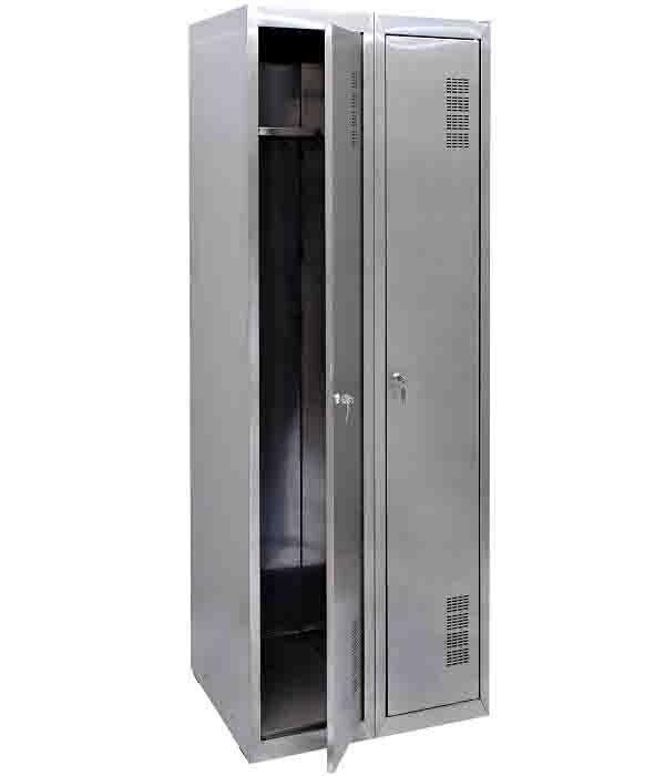 Шкаф для одежды из нержавеющей стали ШОМНж-400/2