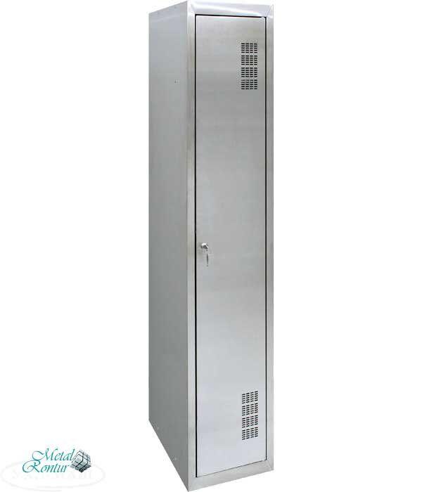 Шкаф для одежды из нержавеющей стали ШОМНж-300/1