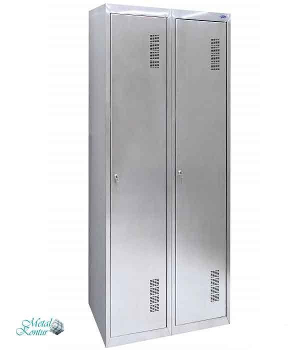 Шкаф хозяйственный из нержавеющей стали ШМХНж-400/2